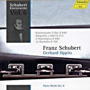 Franz Schubert Piano Works Vol. 6 / hänssler CLASSIC