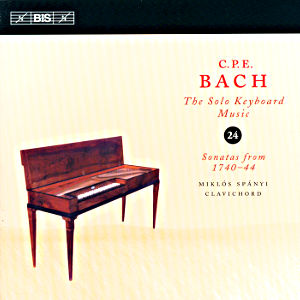 C.P.E. Bach, Solo Keyboard Music Vol. 24 / BIS
