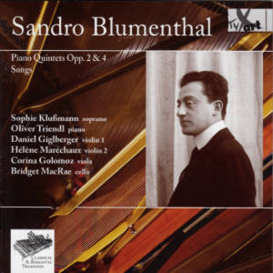 Sandro Blumenthal, Piano Quintets Opp. 2 & 4 • Songs / TYXart