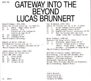 Gateway into the Beyond, Lucas Brunnert