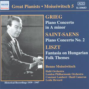 Great Pianists – Moiseiwitsch 5 / Naxos