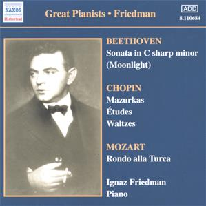Great Pianists – Friedman Complete Recordings Vol. 1 / Naxos