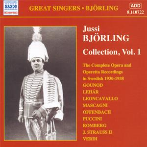 Great Singers • Björling Collection Vol. 1, Complete Opera and Operetta Recordings (1930-1938) / Naxos