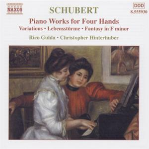 Schubert Piano Works for Four Hands / Naxos