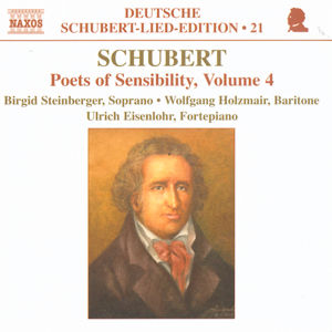 Schubert Deutsche Schubert-Lied-Edition 21 Poets of Sensibility Vol. 4 / Naxos