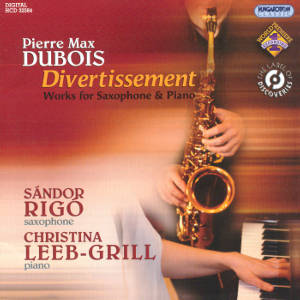 Pierre Max Dubois, Divertissement - Works for Saxophon & Piano / Hungaroton