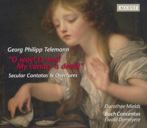 Georg Philipp Telemann, O woe! O woe! My canary is dead! / Accent
